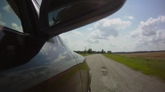 Country road - stock footage