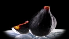 Fig on the black background Stock Footage