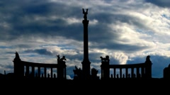 Budapest Heroes square 4 Stock Footage