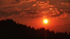 Sunset in the Carpathians Stock Footage