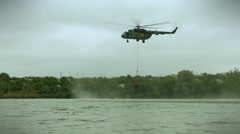 Firefighting helicopter Stock Footage
