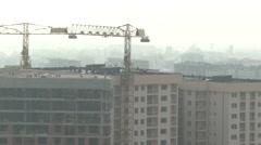 Building works. Sarajevo. - stock footage