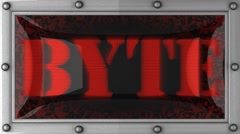 byte on led - stock footage