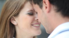 Young couple in love - stock footage