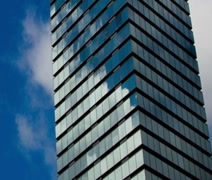 Glass Building CU Sequence - stock footage