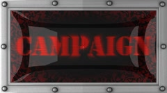Stock Video Footage of campaign on led