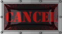 cancel on led - stock footage