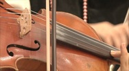 Old violin in the orchestra 2 Stock Footage