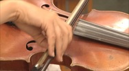 Old violin in the orchestra Stock Footage