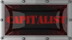 Capitalist on led Stock Footage