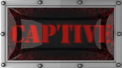 Stock Video Footage of captive on led