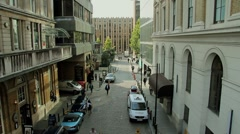 City Street (High Angle) Stock Footage