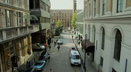 Stock Video Footage of City Street (High Angle)