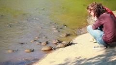 Turtles - TRACHEMYS SCRIPTA ELEGANS Stock Footage