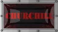 Churchill on led Stock Footage