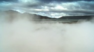 Stock Video Footage of Billowing Steam From Underground Volcanic Springs