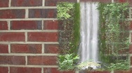Stock Video Footage of Waterfall on brick wall background
