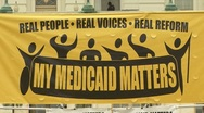 Stock Video Footage of Medicaid rally
