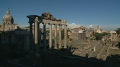 Ancient Forum zoom out, Rome Stock Footage