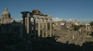 Stock Video Footage of Ancient Forum zoom out, Rome