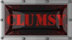 clumsy on led - stock footage