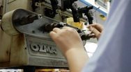Semi Automated Electro Mechanical Coil Winding Stock Footage
