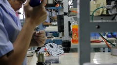 Stock Video Footage of Speedometer Assembly Line in China