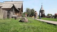 Stock Video Footage of Suzdal city museum of wooden architecture