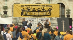 Medicaid rally Stock Footage