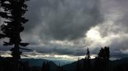 Cascades Mountains Weather, Mount Rainier, Time Lapse Stock Footage
