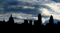 UK London Skyline 3 Stock Footage