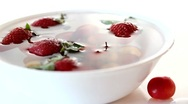 Stock Video Footage of Strawberries and Cherries