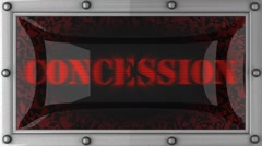 Stock Video Footage of concession on led