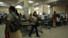 Nepal Hospital Injection Room WS Stock Footage