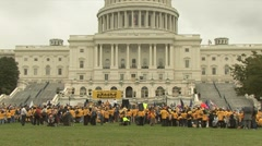Medicaid rally - stock footage