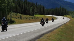 Motorcycles on Highway - stock footage