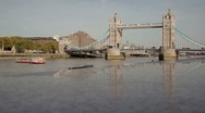 Stock Video Footage of Wide Shot London Tower Bridge