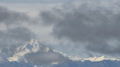 Mt Illiamna Shrouded by Clouds Stock Footage