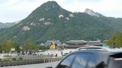 Seoul Royal Palace Gyeongbokgung Stock Footage