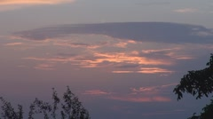 Beautiful clouds passing Stock Footage