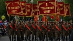 Soviet army parade Stock Footage
