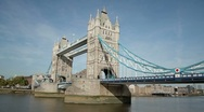 Stock Video Footage of London Tower Bridge