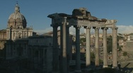 Ancient Forum in Rome (two) Stock Footage