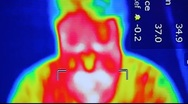 Stock Video Footage of Infrared radiation thermal imaging camera of a man