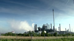 Heavy Industry. Chimney with smoke. Sequence - stock footage