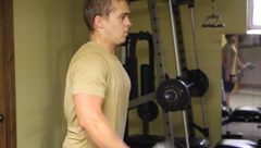 Man Exercising(HD)c Stock Footage