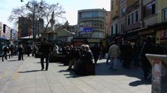 Turkey Istanbul Karakoy bustle street scene Stock Footage