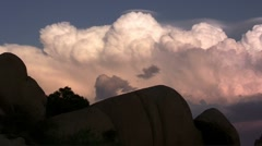 Sunset in Joshua Tree National Park (timelapse) Stock Footage