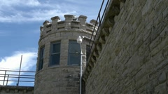 Old prison guard tower medium Stock Footage