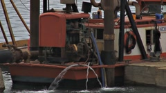 Harbor Dredging 1 Stock Footage